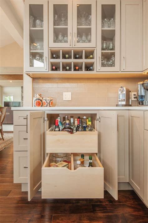 built in wine bar cabinets magnificent locking liquor in kitchen transitional