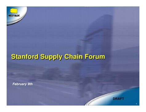 Stanford Supply Chain Mba by Stanford Supply Chain Forum Stanford Supply Chain Forum