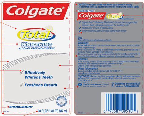 colgate total whitening sparklemint mouthwash colgate