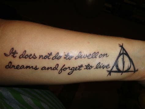 what to put on a tattoo wasn t sure to put this in tattoos or the harry potter