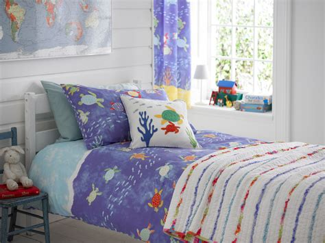 bedroom curtains and duvet sets kids nautical seaside boys bedding duvet cover set throw