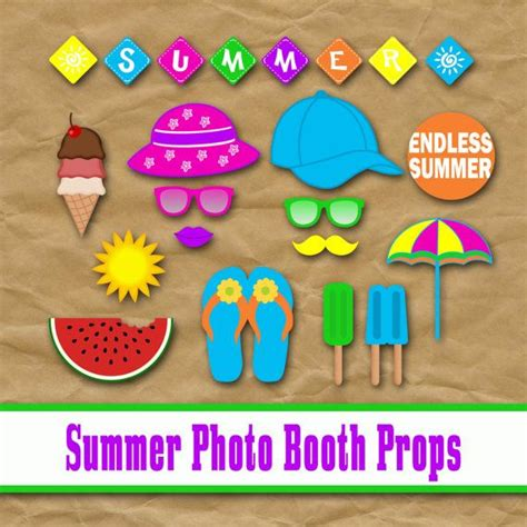 printable photo booth props summer summer photo booth props and decorations printable