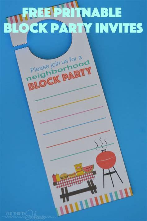 block invitation template free neighborhood block invitation free printable our