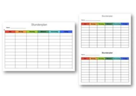 Kostenlose Vorlage Stundenplan stundenplan vorlage muster vorlage ch