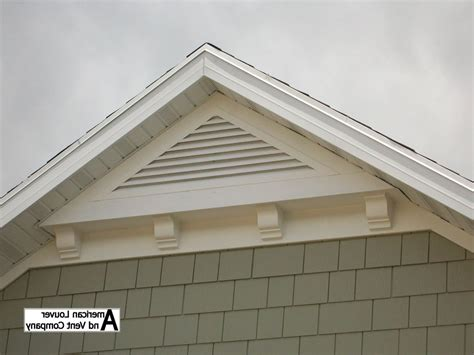 gable end attic exhaust gable end vents with rustic exterior and brick paving