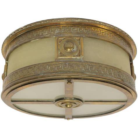 deco flush mount ceiling lights deco theater bronze flush mount light at 1stdibs