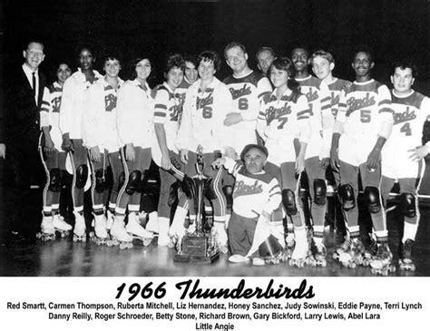 los angeles thunderbirds roller derby thunderbirds roller derby 1966 team photo roller game
