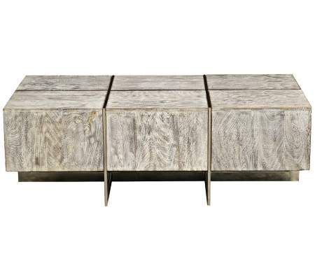 modern vented slats mango wood accent coffee table the rectangular box top of this contemporary mango wood