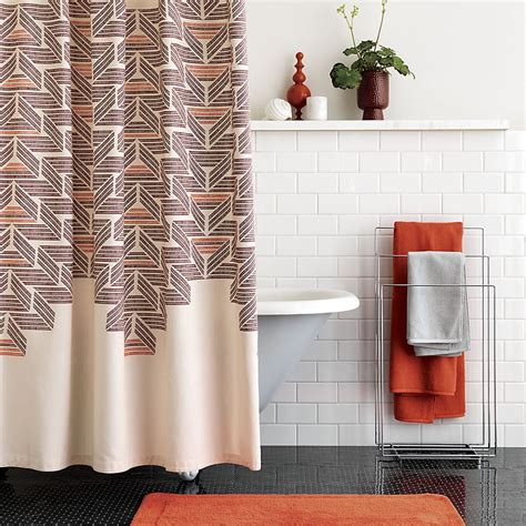 sophisticated shower curtains retro style shower curtain from cb2 decoist
