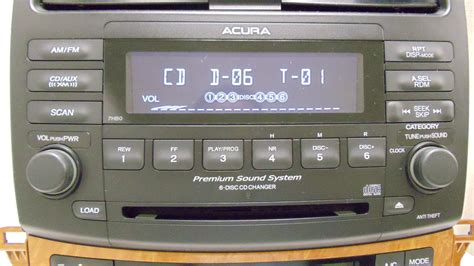 acura tsx xm radio stereo 6 disc changer cd player climate