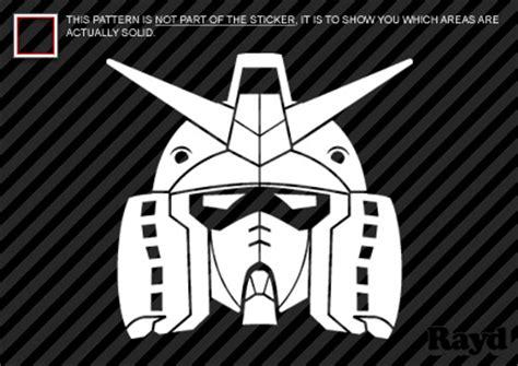 Sticker Stiker Cutting Gundam Unicorn gundam sticker die cut decal self adhesive vinyl ebay