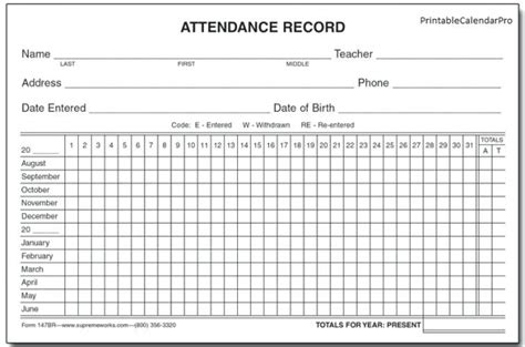 2018 Attendance Calendar Free Printable Yht6 Blank Calendar To Print 2018 Attendance Calendar Template