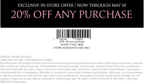 s secret offers retail july victorias coupons printable coupons