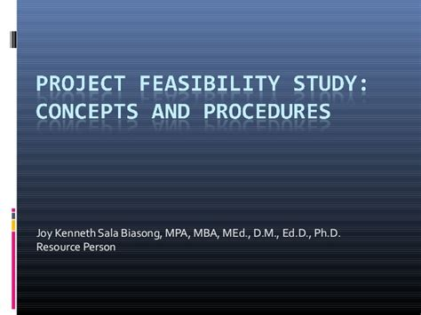 Procedure Of Mba After M by Project Feasibility Study