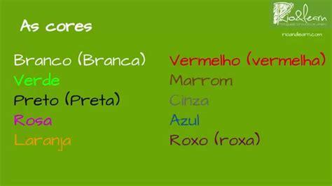 colors in portuguese the colors in portuguese learn portuguese a dica do dia
