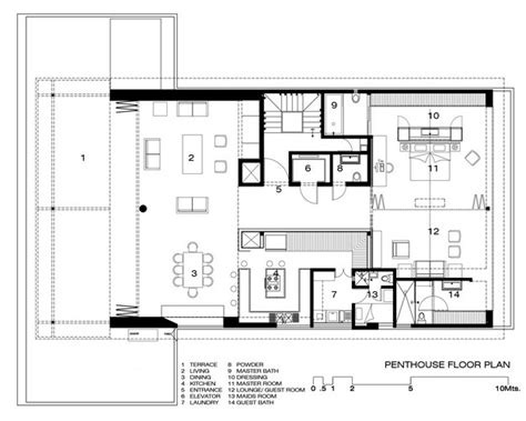 penthouse layouts apartment layout plan interior design ideas