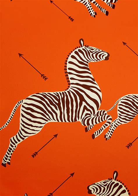 scalamandre wallpaper scalamandre zebra wallpaper in orange about orange