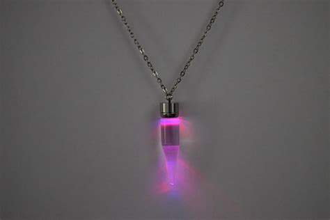 Led Light Pendants Light Up Glow Pendant Necklace Eternity Led