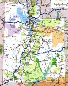 State Of Utah Map by Utah Road Map