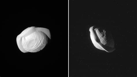 moons on saturn stunning up of saturn s moon pan reveals a space