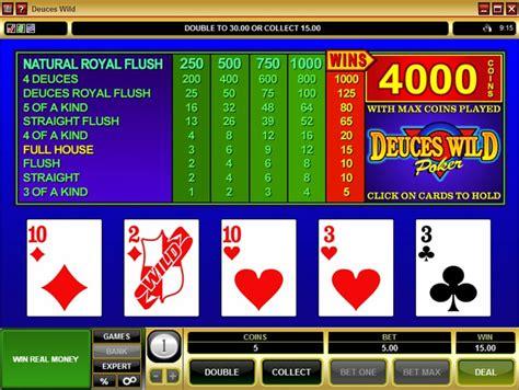 play deuces wild video poker  microgaming