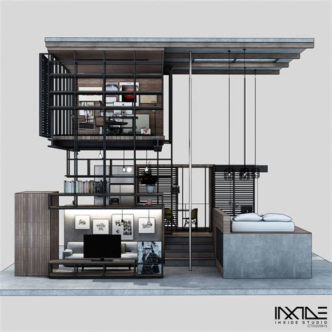 home design kitchen upstairs compact modern house made from affordable materials