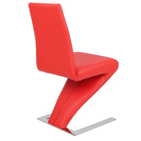 Z Shaped Dining Room Chairs High Back Pu Leather Dining Chair Z Shaped Zigzag Home