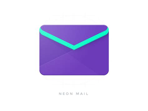 material design icon upload neon mail material design by mattia astorino dribbble