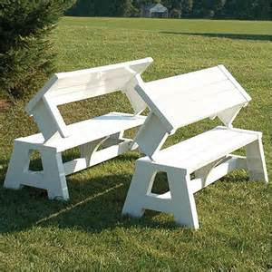 Patio Furniture Bench by Quick Change White Convertible Bench Garden Furniture