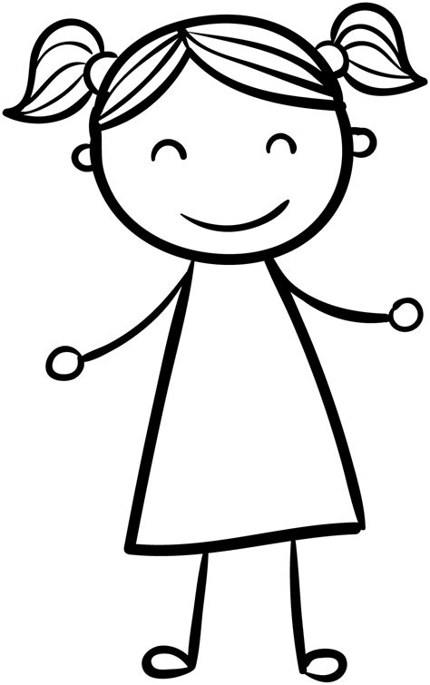 happy girl coloring page happy girl children coloring page wecoloringpage