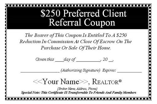 realtor coupons for clients