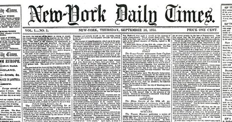 the new york times publishes the new york times and cbs born the story of information