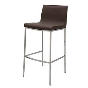 Nuevo Bar Stools Colter Mink Leather Counter Stool By Nuevo Hgar297