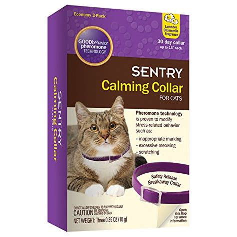 sentry calming collar for cats 3 pack 725627386398