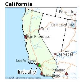 industry california map best places to live in industry california