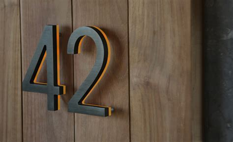 outdoor house numbers illuminated bronze house numbers 8 quot outdoor led backlit luxello modern house