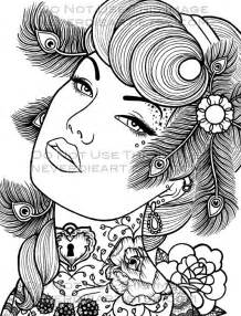 pin up coloring pages pics for gt pin up coloring pages