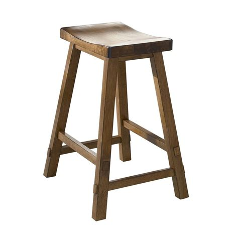 Lowes Shop Stool by Shop Liberty Furniture Creations Ii Tobacco Bar Stool At