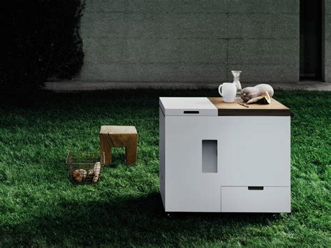 Boffi Mini Kitchen Packs In Everything But The Kitchen Sink Sort Of by Mini Kitchen Minikitchen Outdoor By Boffi