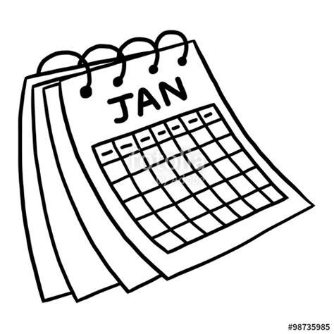 calendario clipart quot january calendar vector and illustration black