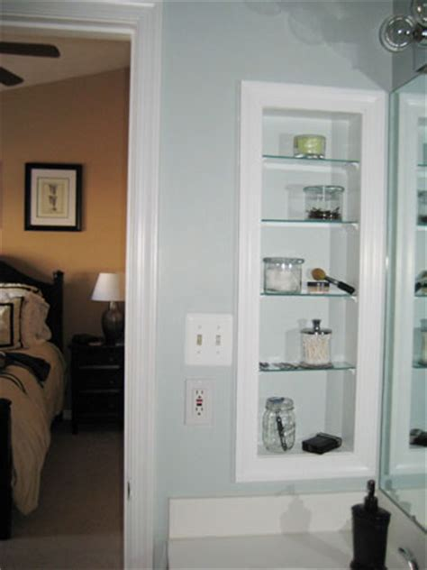 open bathroom shelving how to turn an medicine cabinet into an open shelved