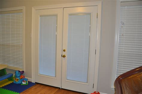 patio door with blinds inside in spoonfuls new doors