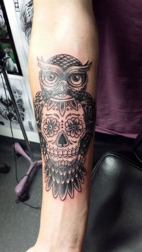 hanoi electric tattoo sugar skull owl tattoo tattoo tattoo pinterest sugar