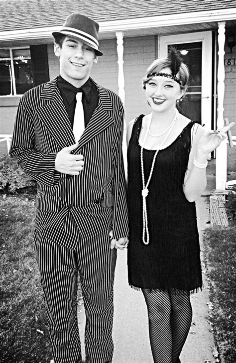 1920's flapper girl and mobster Halloween costumes