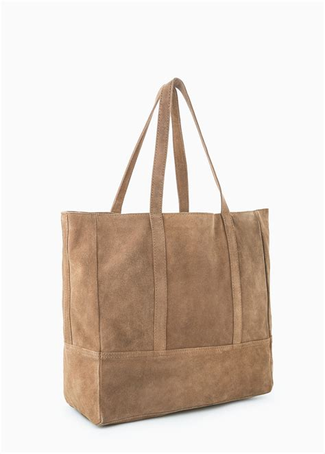 Mango Bag Kode Mng Bag 102 lyst mango suede shopper bag in brown