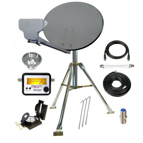 directv compact portable satellite dish tripod kit for rv mobile hd ebay
