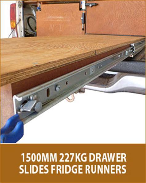 Heavy Duty Drawer Slides 1500mm new 2x 1500mm 227kg drawer slides fridge runners heavy
