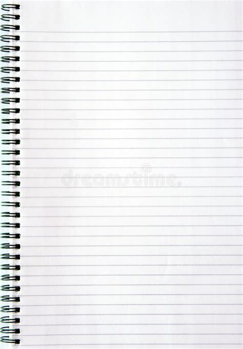lined paper free stock notebook with lined paper stock image image of blank