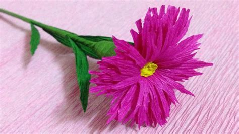 crepe paper flower tutorial youtube how to make crepe paper flowers flower making of crepe