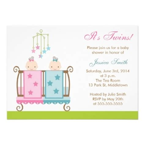 baby shower invitations templates for twins twin baby shower invitations